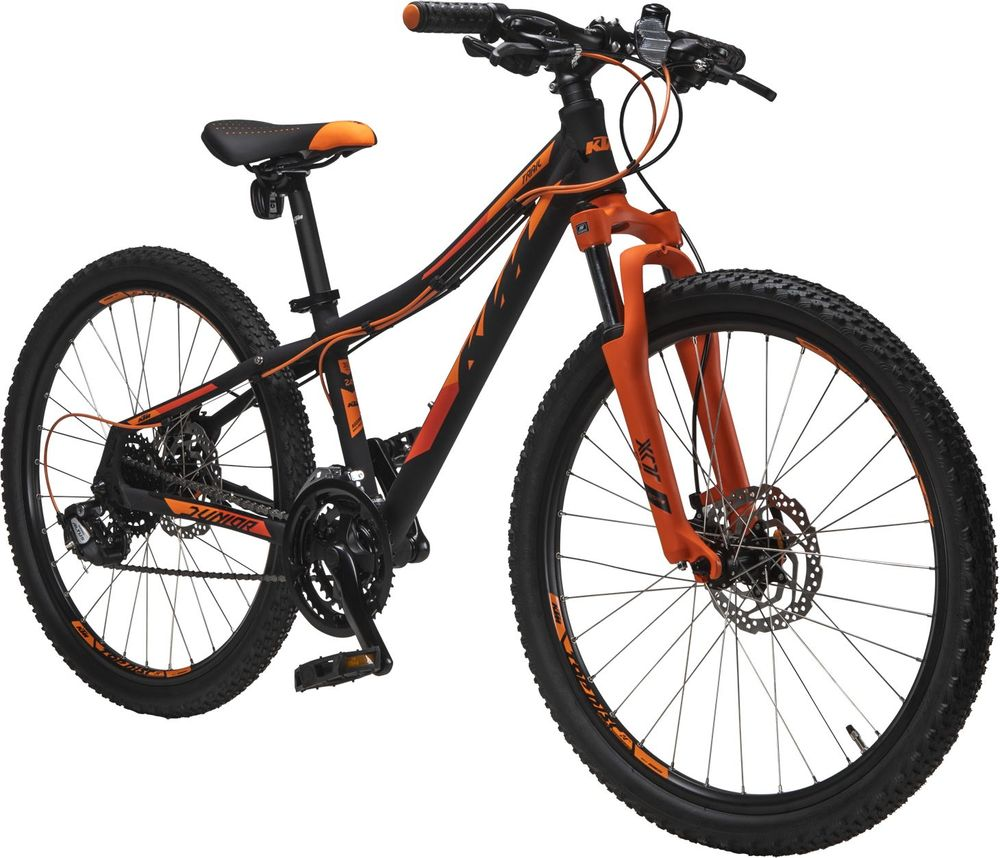 Juniorcykel KTM Jr Trail Svart/Orange 24 tum