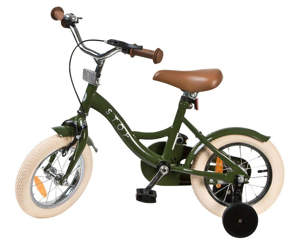 Barncykel STOY Vintage Grön, 12 tum