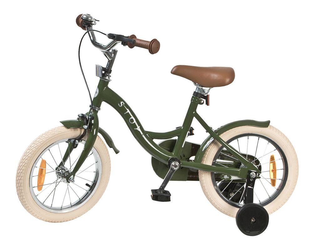 Barncykel STOY Vintage Grön, 14 tum