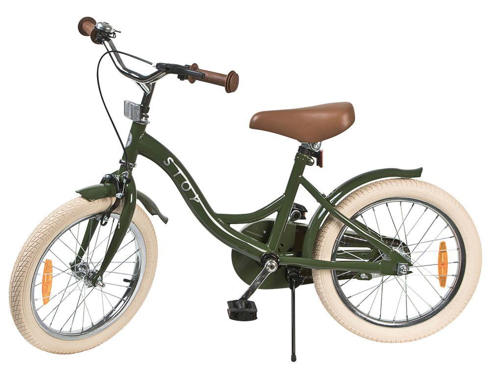 Barncykel STOY Vintage Grön, 16 tum