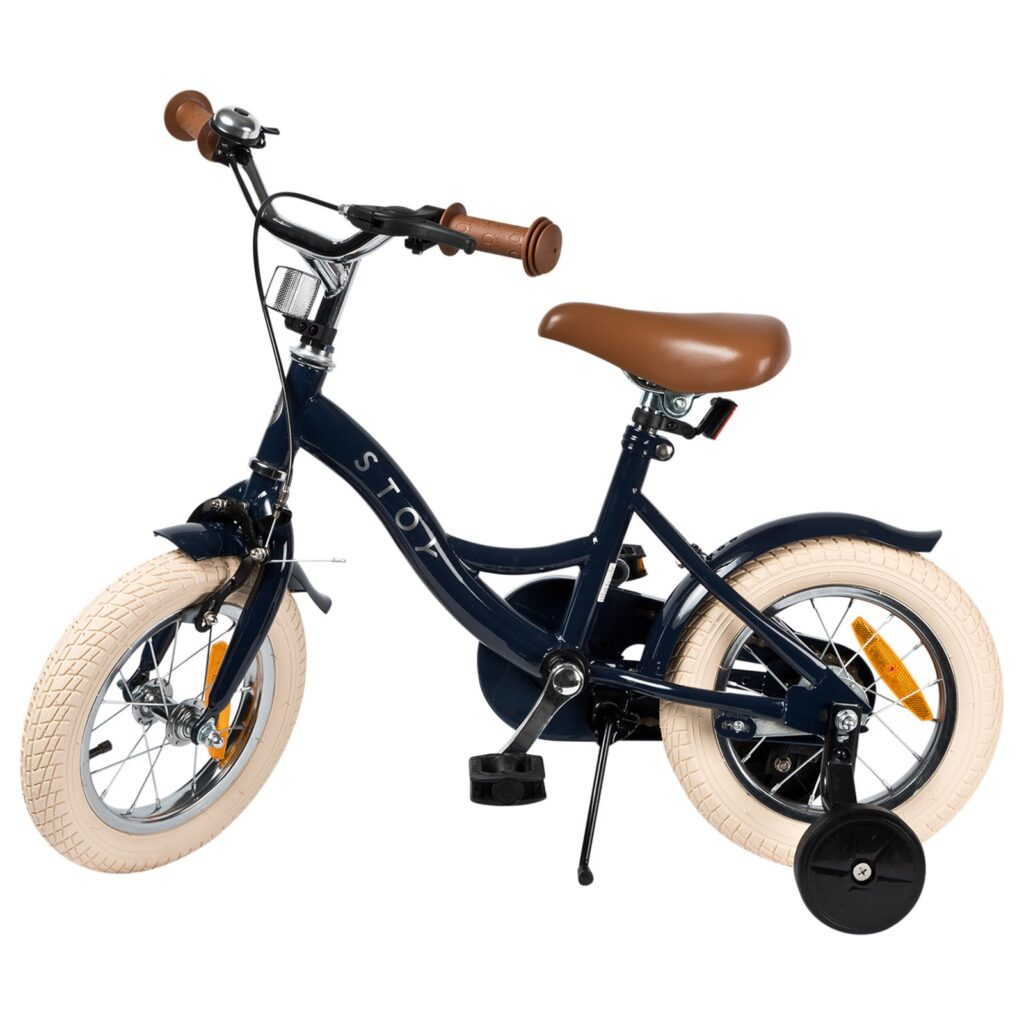 Barncykel STOY Vintage Mörkblå, 12 tum